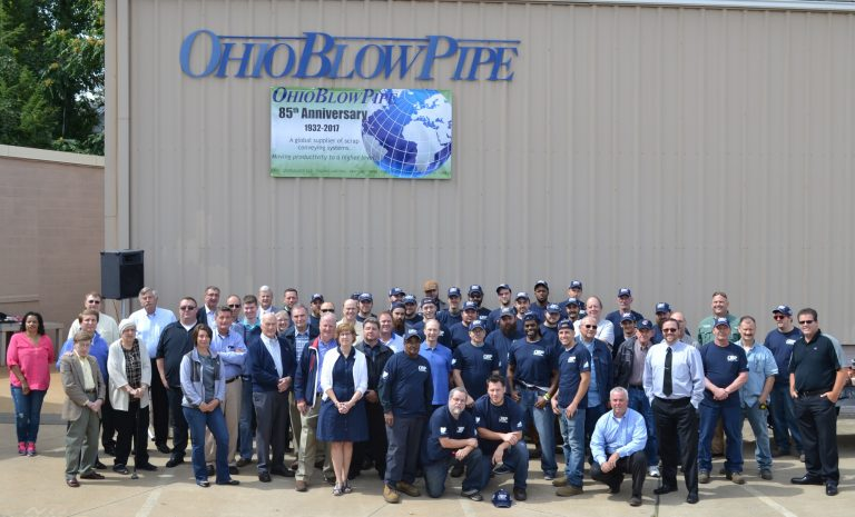 Ohio Blow Pipe employees group photo